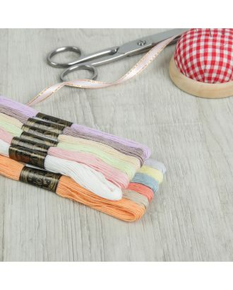 Набор ниток мулине №4, 8 ± 1 м, 12 шт, цвет разноцветный арт. СМЛ-1698-1-СМЛ1615611