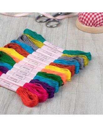 Набор ниток мулине №5, 12шт, 8±1м, разноцветный арт. СМЛ-30437-1-СМЛ1615614