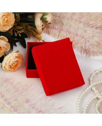 """Коробочка подарочная под набор """"Красный бархат"""", 5*8 (размер полезной части 4,9х7,8см), цвет красный, вставка чёрная арт. СМЛ-21842-1-СМЛ1641237"""