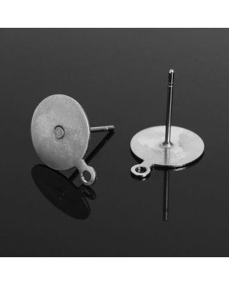 Основа для пусет с петелькой, площадка 10мм СМ-1111 арт. СМЛ-20833-1-СМЛ1644432