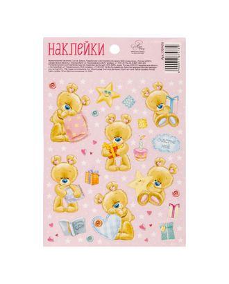 Бумажные наклейки «Мишутки», 11 х 16 см арт. СМЛ-29571-1-СМЛ1733588