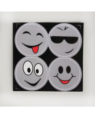 Светоотражающая наклейка «Смайлы» д.6,5 см арт. СМЛ-1971-1-СМЛ1762654