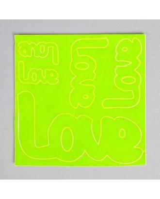 Светоотражающая наклейка «Любовь», 5 шт на листе р.14х14 см арт. СМЛ-1972-1-СМЛ1762656