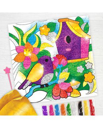 """Фреска песком """"Сказочный сад"""" + 9 цветов песка по 4 гр, блестки, стека арт. СМЛ-1998-1-СМЛ1781801"""