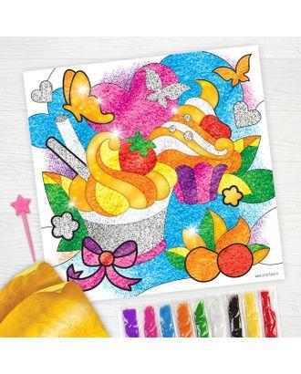 """Фреска песком """"Сладкое настроение"""" + 9 цветов песка по 4 гр, блестки, стека арт. СМЛ-1999-1-СМЛ1781802"""