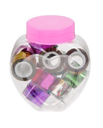 """Клейкая лента пластик в банке """"Голография"""" (набор 10 шт) цвета МИКС 1,2смх1м 6,3х5,3х3,4см арт. СМЛ-2004-1-СМЛ1784659"""