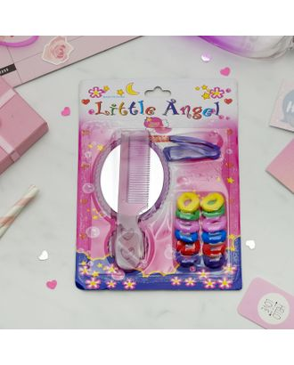 """Набор для волос """"Маленький ангел"""" (2 невидимки, 12 резинок, зеркало, расчёска), микс арт. СМЛ-113854-1-СМЛ0001820632"""