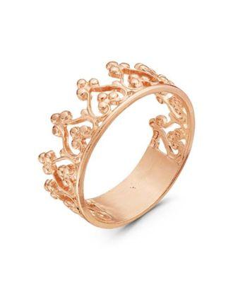 """Кольцо позолота """"Корона"""", 19,5 размер арт. СМЛ-19732-4-СМЛ0001820689"""