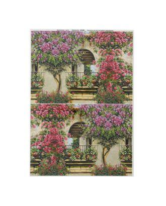 """Декупажная карта для чайного домика """"Балкон в цветах"""" плотность 45 г/м2, формат А4 арт. СМЛ-32767-1-СМЛ1822935"""