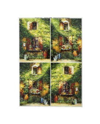 """Декупажная карта для чайного домика """"Зелёный домик"""" плотность 45 г/м2, формат А4 арт. СМЛ-31299-1-СМЛ1822947"""