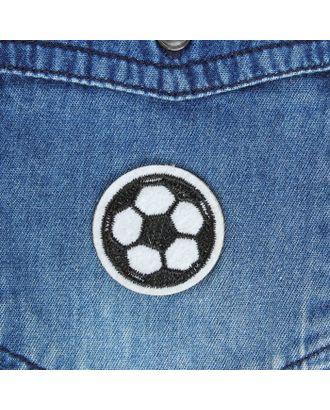 Термоаппликация «Футбольный мячик» д.3 см арт. СМЛ-2202-1-СМЛ1876895