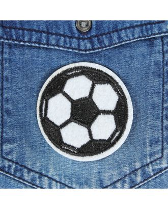 Термоаппликация «Футбольный мячик» д.5,1 см арт. СМЛ-2208-1-СМЛ1876908