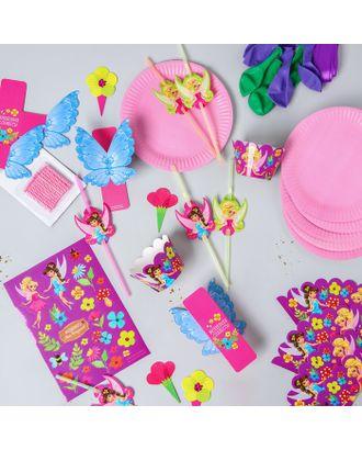 Набор для оформления праздника «Феи», воздушные шары, тарелки, свечи, формочки, топперы, наклейки, трубочки арт. СМЛ-47340-1-СМЛ0001885637
