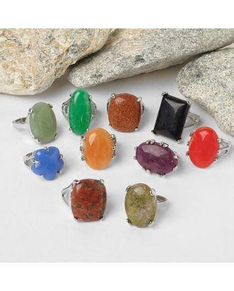 """Кольцо """"МИКС камней"""" малое, форма МИКС, безразмерное арт. СМЛ-117998-1-СМЛ0000194845"""