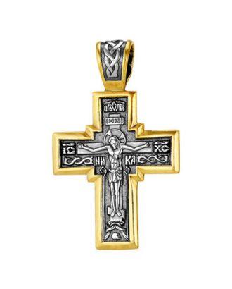 Крест нательный, посеребрение, позолота арт. СМЛ-113848-1-СМЛ0001971548