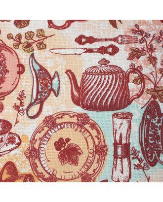 Скатерть Доляна «Чайные традиции», 70 × 70 см, 100%-ный хлопок, вафельное полотно, 162 г/м² арт. СМЛ-19761-1-СМЛ1984876