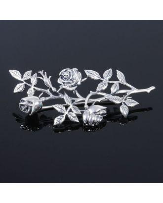 """Брошь """"Вендела"""", цветная в чернёном серебре арт. СМЛ-20441-2-СМЛ1999750"""