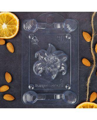"Пластиковая форма для мыла ""Лилия"", 9х7х1,5 см арт. СМЛ-2449-1-СМЛ2007125"