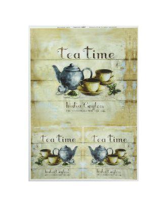 """Декупажная карта """"Индийский чай"""" плотность 45г/м2, формат А4 арт. СМЛ-32092-1-СМЛ2009550"""