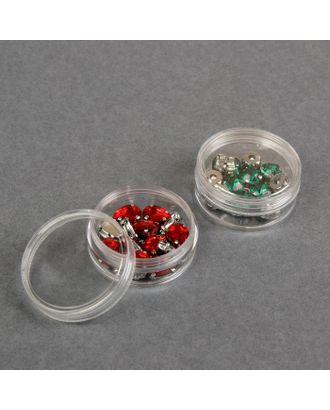 Баночки для хранения мелочей, d = 5х2 см, 2 шт арт. СМЛ-2608-1-СМЛ2059780