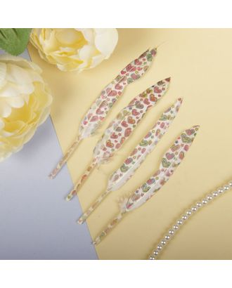 Набор перьев для декора, 4шт арт. СМЛ-2669-1-СМЛ2068259