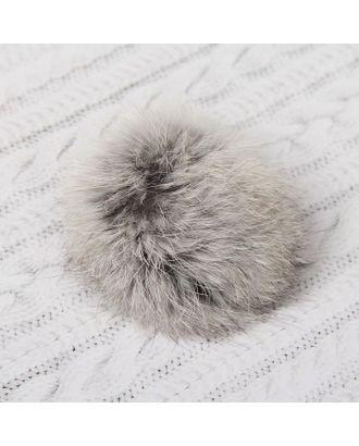 Помпон из натурального меха зайца д.7 см арт. СМЛ-23892-3-СМЛ2086752