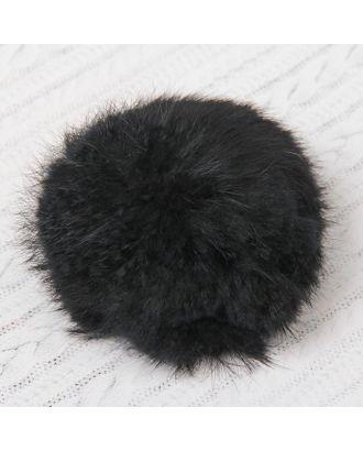 Помпон из натурального меха зайца д.10 см арт. СМЛ-23895-1-СМЛ2086763