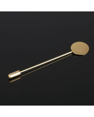 Основа для булавки L=5 см, площадка 1,5см арт. СМЛ-20696-2-СМЛ2098785