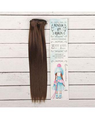 """Трессы для кукол """"Прямые"""" длина волос 25 см, ширина 100 см, цвет № 6К арт. СМЛ-3289-1-СМЛ2125925"""