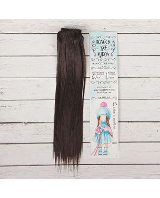 """Трессы для кукол """"Прямые"""" длина волос 25 см, ширина 100 см, цвет № 2 арт. СМЛ-3319-1-СМЛ2125957"""