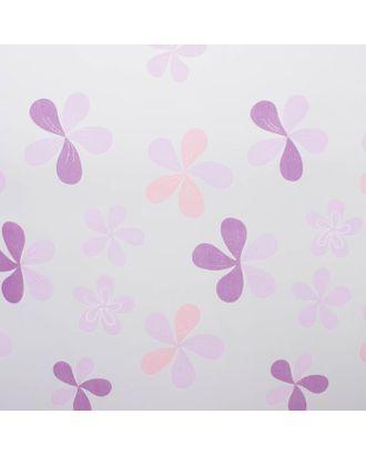 """Тюль """"Этель"""" Цветы лета (цвет розовый) без утяжелителя, ширина 135 см, высота 270 см арт. СМЛ-19855-1-СМЛ2133254"""