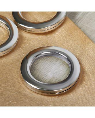 Люверсы для штор, d = 4,3/6,5 см, 10 шт, цвет серебристый арт. СМЛ-21155-2-СМЛ2138540