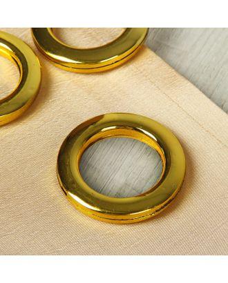 Люверсы для штор, d = 4,3/6,5 см, 10 шт, цвет серебристый арт. СМЛ-21155-1-СМЛ2138541