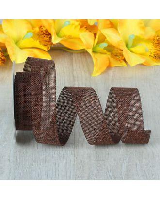 Лента из джута, 30 мм, 4,5±1 м, цвет коричневый арт. СМЛ-22163-1-СМЛ2149182