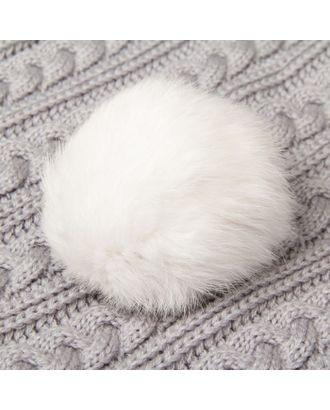 Помпон из натурального меха зайца д.9 см арт. СМЛ-23894-2-СМЛ0002152012