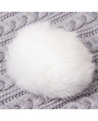 Помпон из натурального меха зайца д.10 см арт. СМЛ-23895-3-СМЛ0002152013