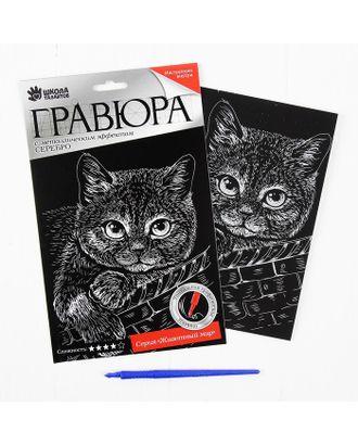 """Гравюра """"Котёнок"""" с металлическим эффектом серебра А5 арт. СМЛ-3546-1-СМЛ2152898"""
