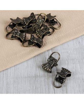 Зажим для штор «Ракушка», 10 шт, цвет серебряный арт. СМЛ-46-2-СМЛ2191010