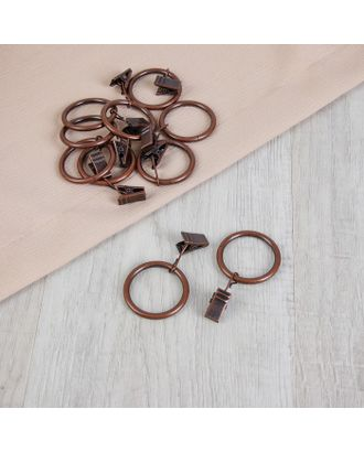 Кольцо для крепления штор, с зажимом д.3,2см, 10шт арт. СМЛ-40-2-СМЛ2191012