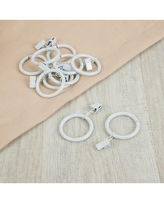 Кольцо для крепления штор, с зажимом д.3,8см, 10шт арт. СМЛ-41-1-СМЛ2191013