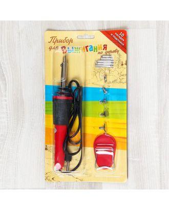 Выжигательный аппарат по дереву, набор: 10 насадок, подставка арт. СМЛ-3778-1-СМЛ2225929