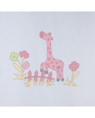 """Тюль """"Этель"""" 135х270 см Весёлые жирафы без утяжелителя, 100% п/э арт. СМЛ-19928-1-СМЛ2265647"""