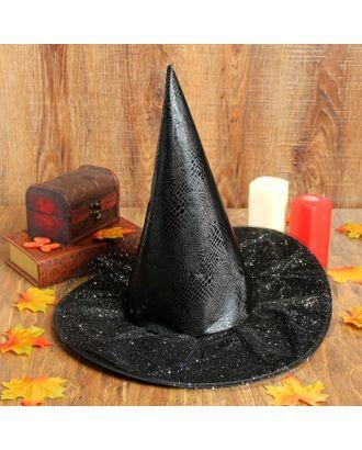 Карнавальная шляпа «Конус», с вуалью, р-р. 60 арт. СМЛ-98252-1-СМЛ0002266434