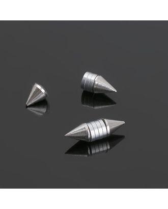 """Тоннели обманки """"Шипы"""" пирсинг, цвет серебро, фас 12 шт арт. СМЛ-3914-1-СМЛ2271073"""
