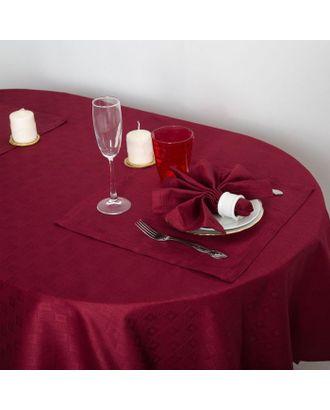 """Набор столовый """"Этель"""" Печворк цв.Бордо(скат140*220,салф 40*40-8шт), 100% хл арт. СМЛ-19953-1-СМЛ2281149"""
