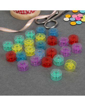 Шпульки в контейнере, d (внеш)= 2 см, d (внутр) = 0,65 см, 25 шт, цвет МИКС арт. СМЛ-3960-1-СМЛ2281382