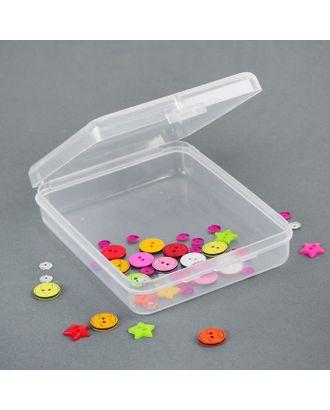 Контейнер для хранения мелочей, 11,5х9х2,8 см, цв.прозрачный арт. СМЛ-25827-1-СМЛ2297975