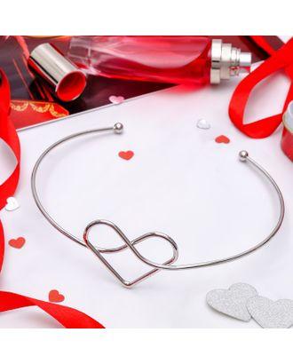"""Колье """"Ноэль"""" сердце, цвет серебро арт. СМЛ-20449-1-СМЛ2308366"""