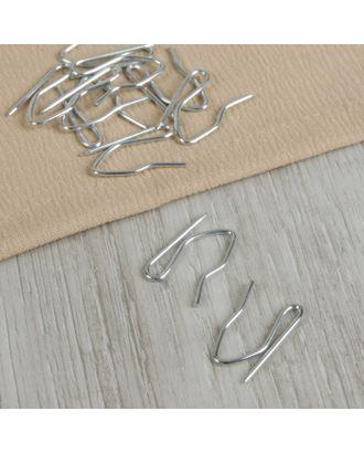 Крючки для штор, 1,8 × 3 см, 10 шт, цвет серебряный арт. СМЛ-11-1-СМЛ2309788