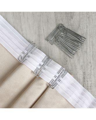 Крючки для штор, 7 × 2,5 см, 10 шт, цвет серебряный арт. СМЛ-12-1-СМЛ2309789